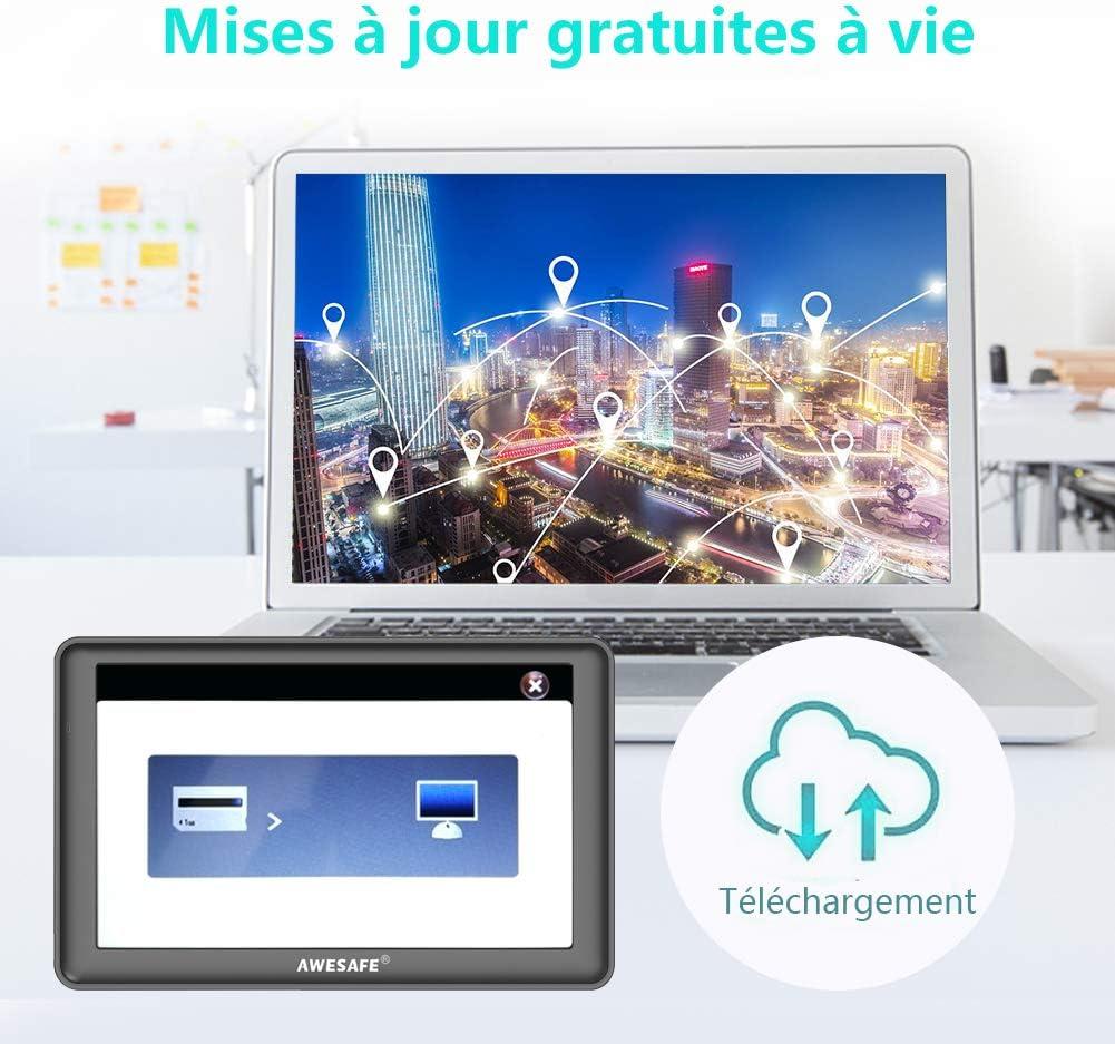 7/pulgadas GPS CAR Auto Europe Bluetooth llamada manos libres Europe 48/A vida con actualizaci/ón de por gratis de la tarjeta