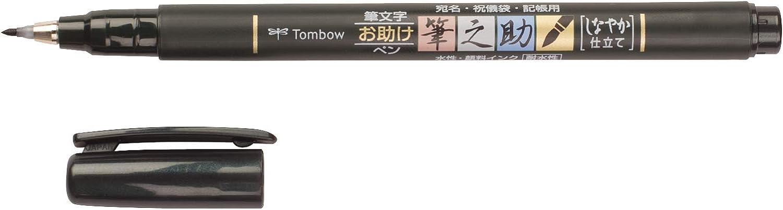 punta blanda Set De 6 Rotuladores Dual Brush Pastel Tombow WS-BS Fudenosuke tinta negra Pluma escobilla