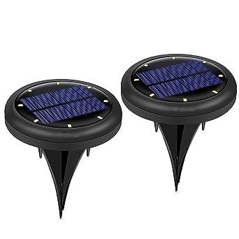Led Lampes solaires de jardin, 2 pièces Interrupteur automatique de ...