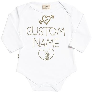Regalos Bebe Personalizados Amazon.Spoilt Rotten Personalizados Bebe Custom Name Body Para Bebe