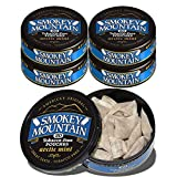 Smokey Mountain Snuff, 5 Cans - Arctic Mint POUCH - Tobacco Free, Nicotine Free - 20 pouches per can by Smokey Mountain