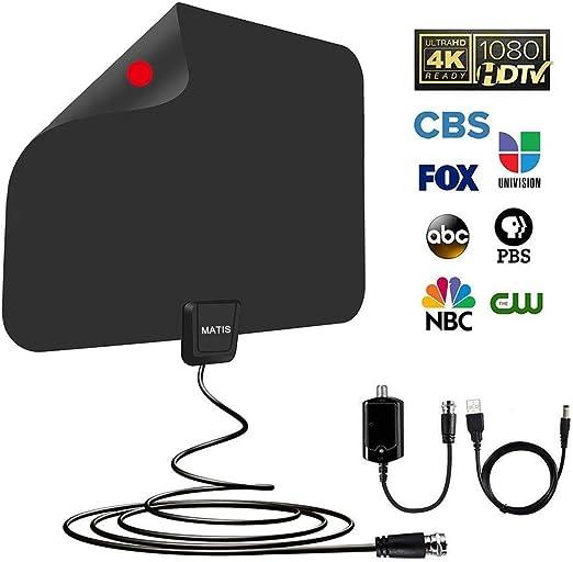 Antena de TV – Antena de TV digital HD amplificada para interiores ...