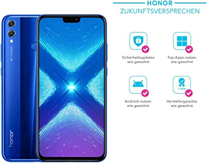 Honor 8 x Smartphone (16,5 cm (6,5 Pulgadas) FHD + Display, cámara ...