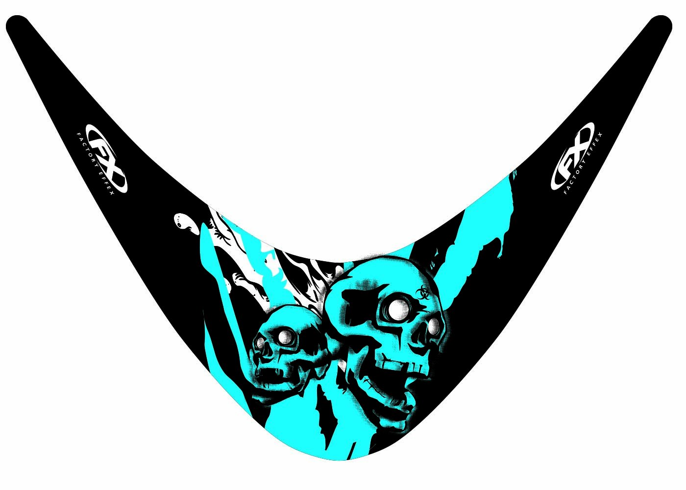 Factory Effex 17-93420-SS Skull Series Windscreen Graphic Kit