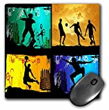 3dRose LLC 8 x 8 x 0.25 Inches Skateboarding Baseball Basketball Soccer Mouse Pad (mp_6181_1)
