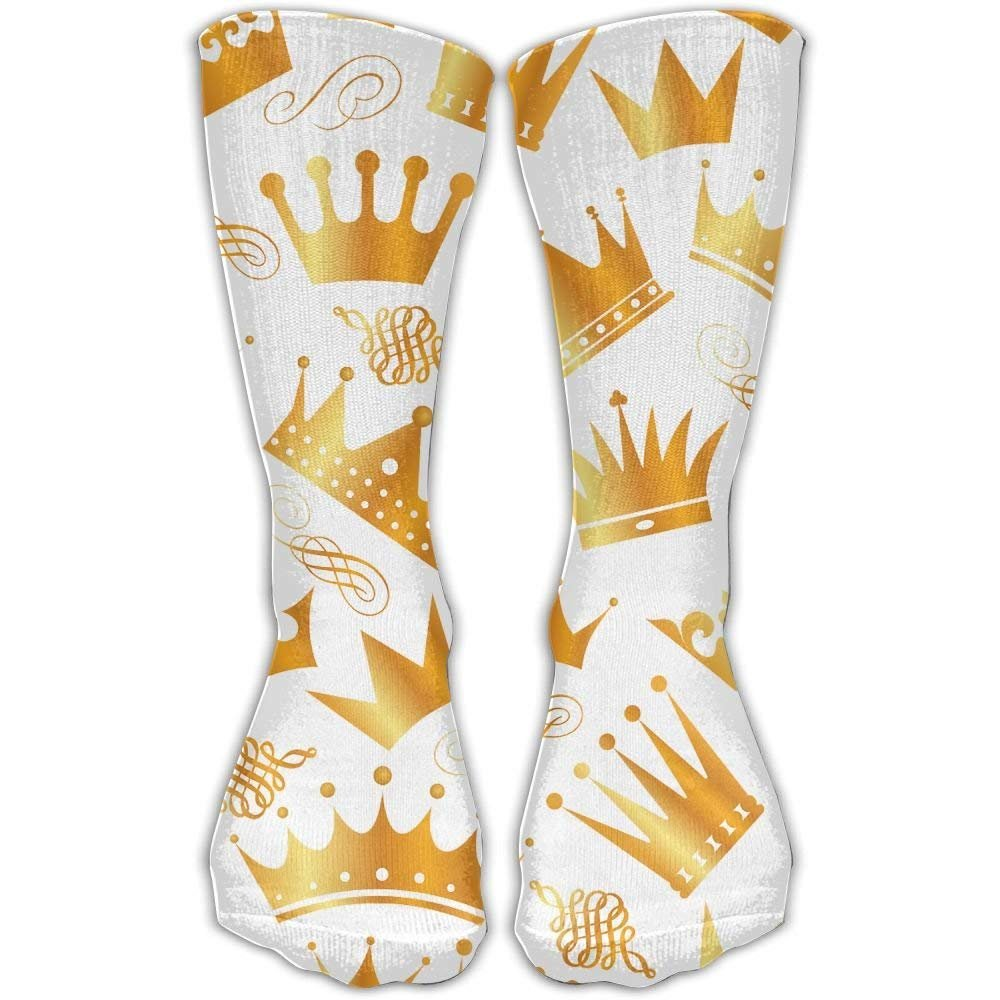 Gold Crown Unisex Performance Crew Socks Protect The Wrist For Cycling Moisture Control Elastic Socks