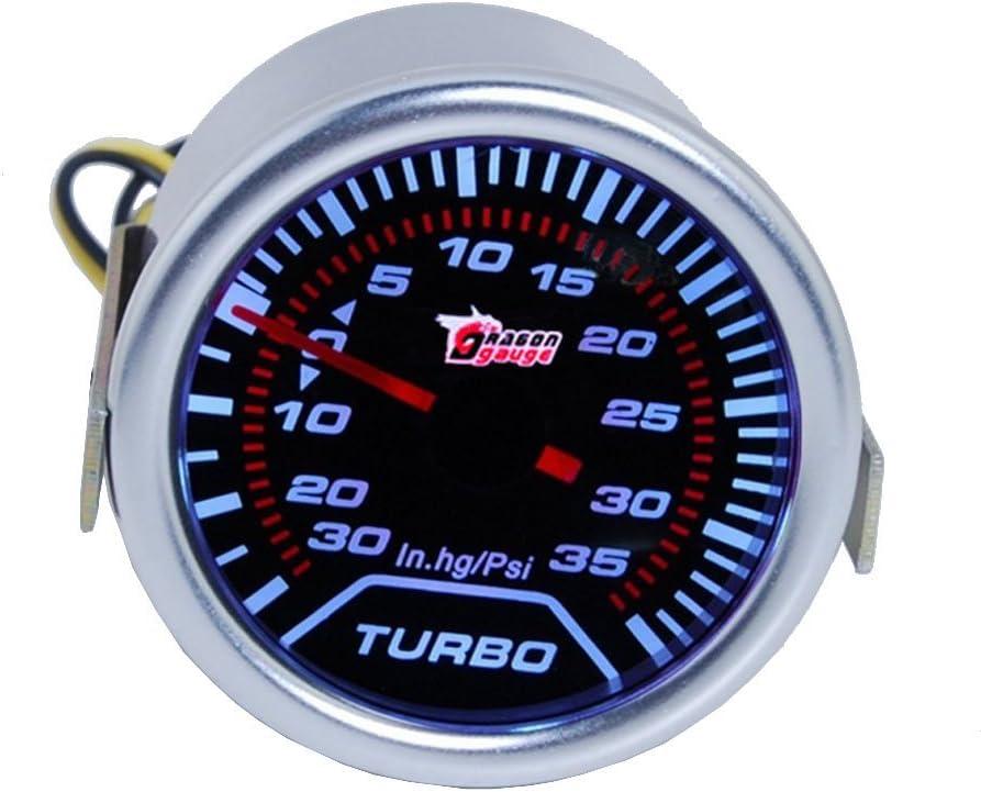 "ESUPPORT 2"" 52mm Car Motor Universal Psi Turbo Boost Gauge Meter Smoke Tint Len LED"
