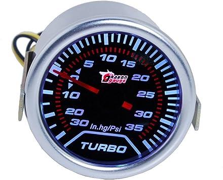52mm LED Car Motor 30 PSI Pressure Vacuum Turbo Boost Pointer Dials Gauge Meter