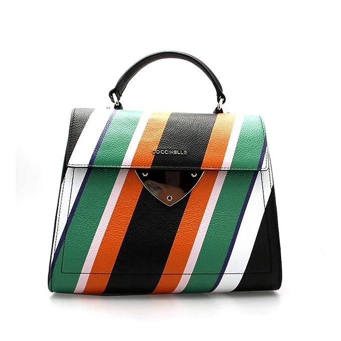neues billig zu verkaufen modischer Stil COCCINELLE Bag STRIPES PRINT Female Leather Multicolor ...