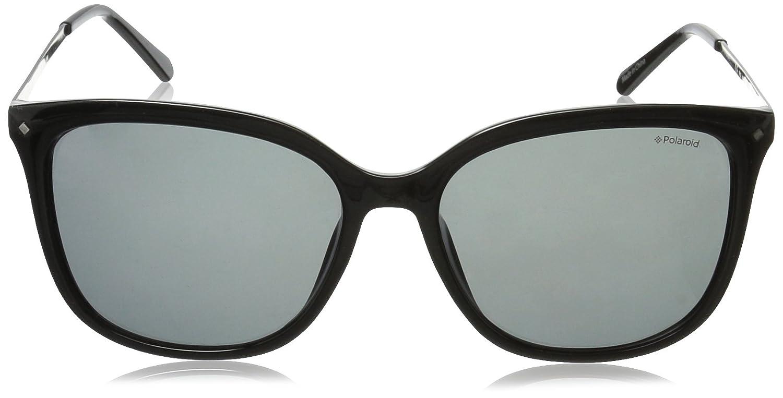 Amazon.com: Polaroid Sunglasses Women's Pld4043s Polarized Square Sunglasses,  Black Ruthenium/Gray Polarized, 57 mm: Polaroid: Clothing