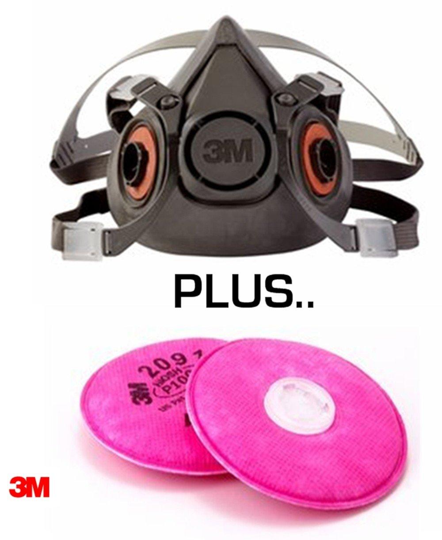 3m half mask p100
