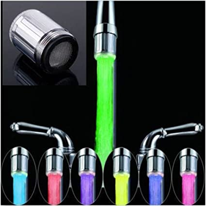 2018 New 3 Color Led Light Change Faucet Shower Water Tap Temperature Sensor No Battery Water Faucet Glow Bathroom Shower Faucet Fixing Prices According To Quality Of Products Home Appliance Parts