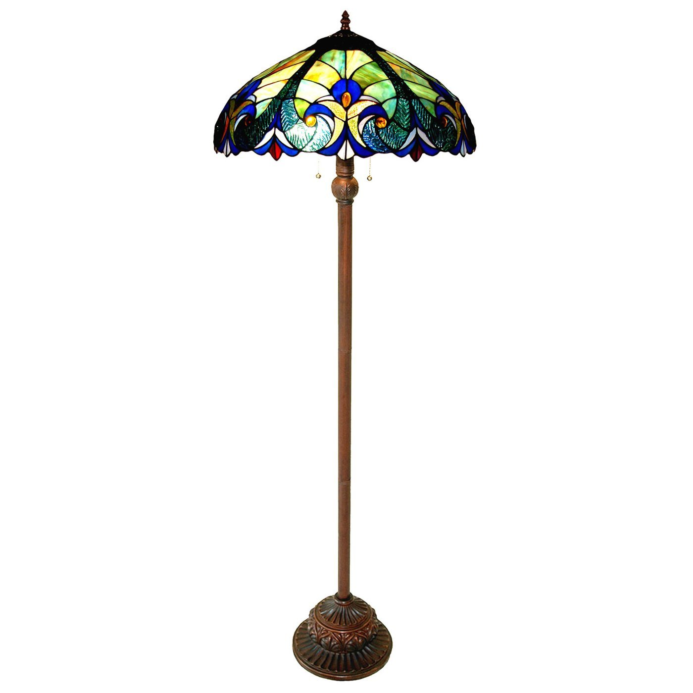 Chloe Lighting CH T FL2 Light Victorian Floor Lamp Tiffany