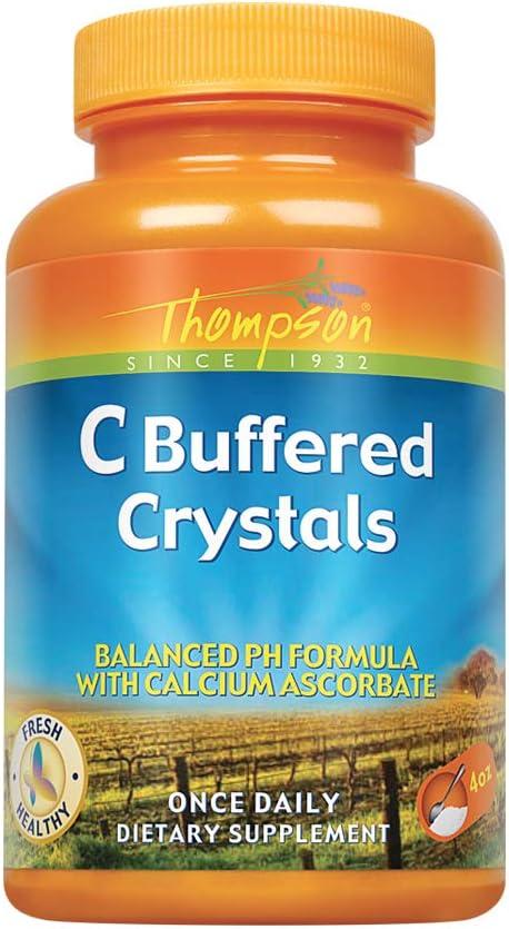 海外直送品 Thompson Nutritional Products Vitamin C, CRYSTALS BUFFERD , 4 OZ