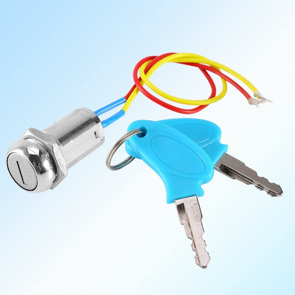 Llave de bloqueo del interruptor de encendido de la moto del scooter de 2 cables para el scooter el/éctrico