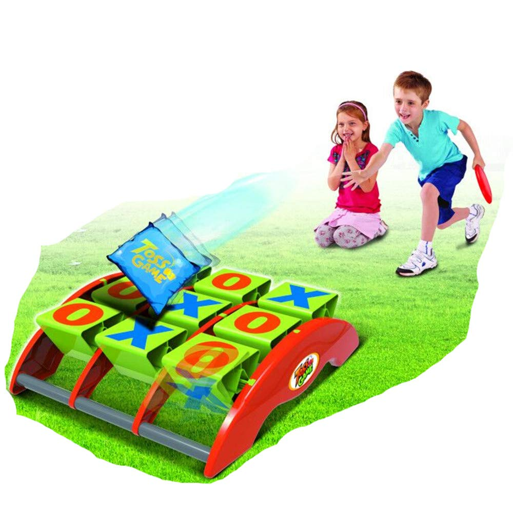 COLOR TREE Tic-Tac-Toss Bean Bag Toss Game Set Sporty Bean Bag Corn Hole Outdoor Indoor Game Set