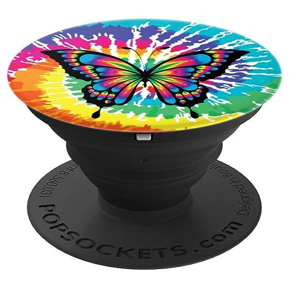 Amazon Com Pretty Butterfly Design Tie Dye Rainbow Trippy Hippy