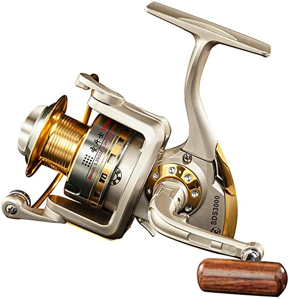 Diwa Spinning Fishing Reels for Saltwater Freshwater 1000 2000 3000 4000 5000 6000 Series Fishing Spool Left/Right Interchangeable Trout Carp Spinning Reel 10 Ball Bearings Light and Smooth