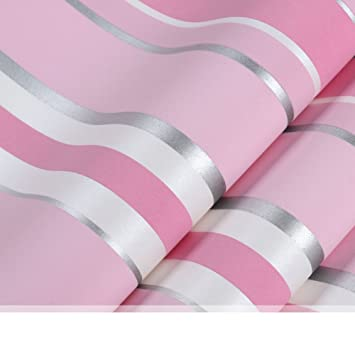 Eastern Mediterranean style wallpapers Pink and blue striped non ...