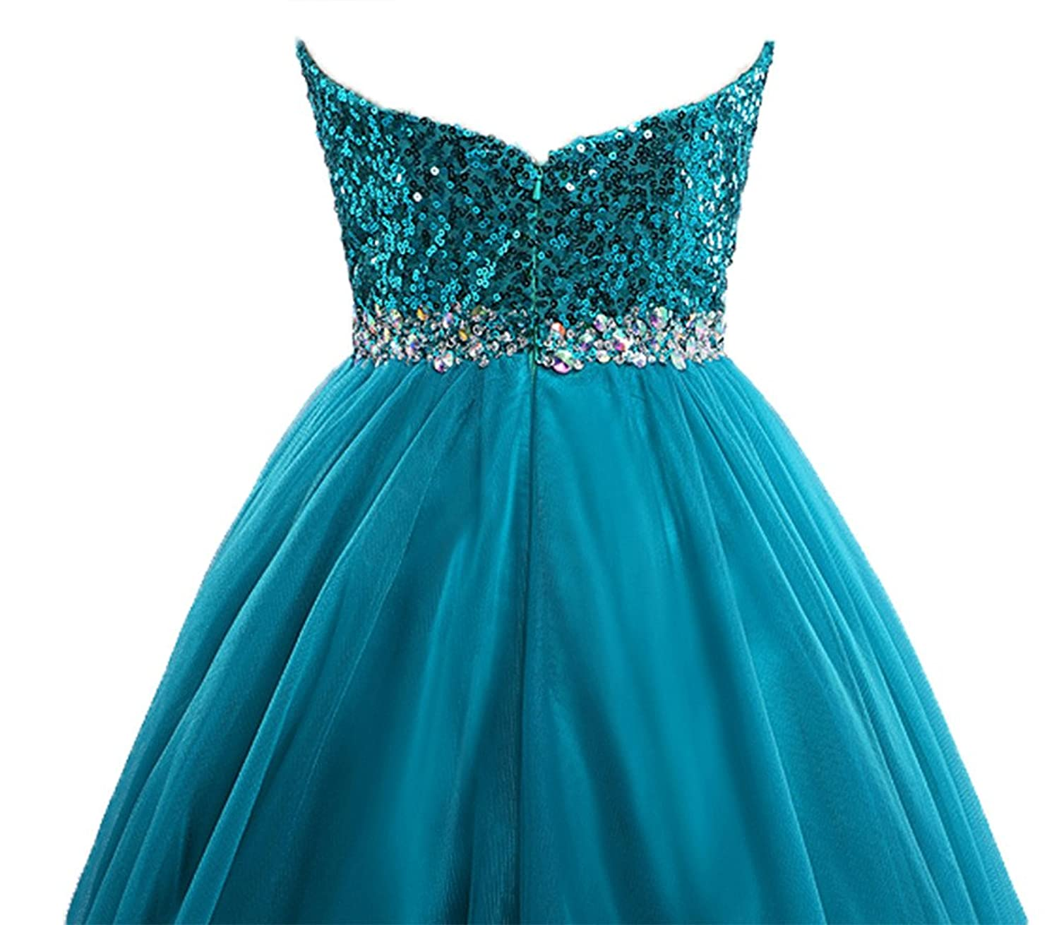 Amazon.com: Lowime Women\'s Ball Gown Tulle Quinceanera Dresses ...