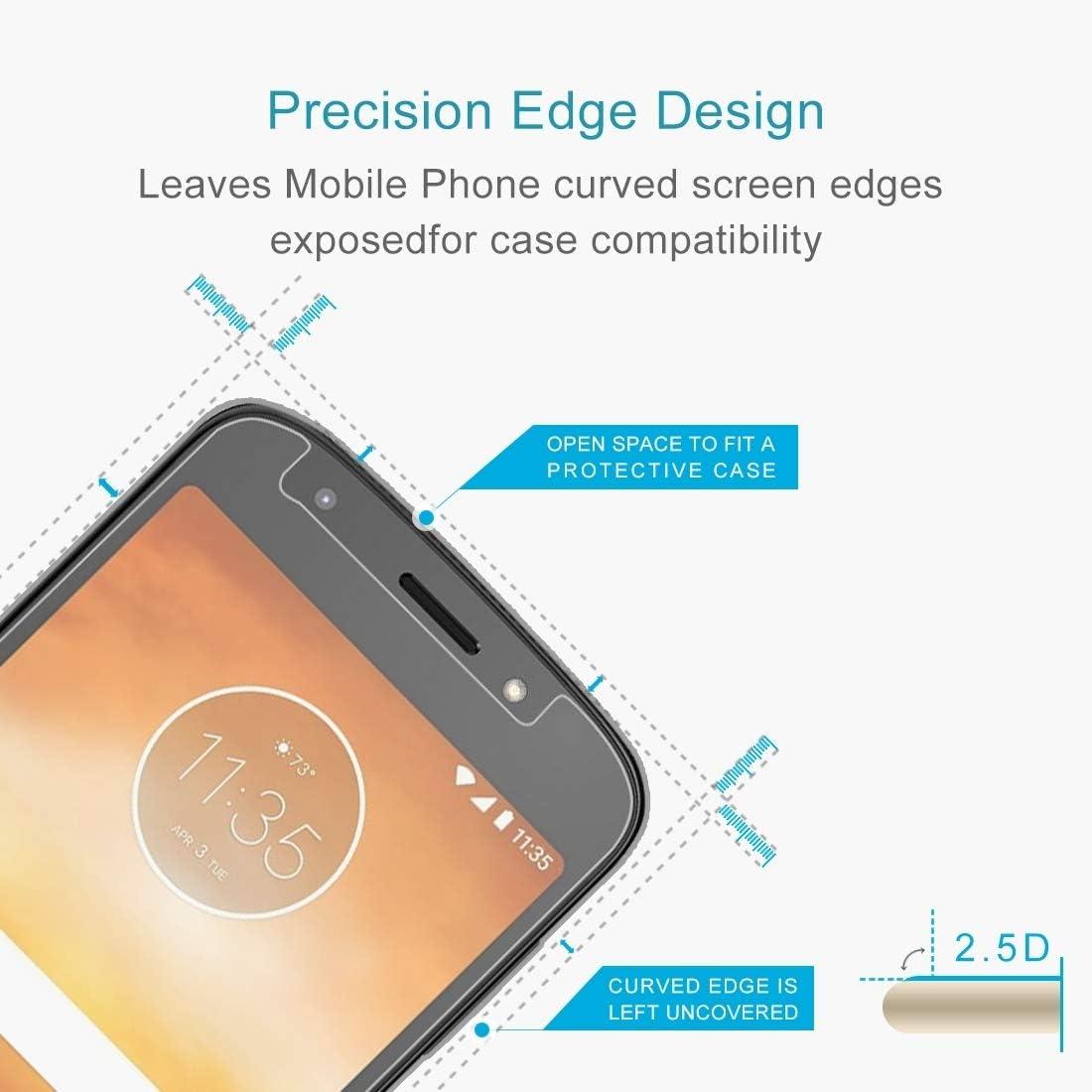 DESHENG Clear Screen Protector 100 PCS 0.26mm 9H 2.5D Tempered Glass Film for Motorola Moto E5 Glass Film
