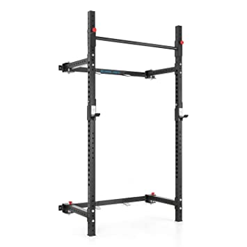 CAPITAL SPORTS Flapton Rack para dominadas plegable montaje en pared J-Cups (soporte barra