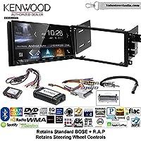 Volunteer Audio Kenwood DDX9904S Double Din Radio Install Kit with Apple CarPlay Android Auto Bluetooth Fits 2003-2005 Chevrolet Blazer, 2003-2006 Silverado, Suburban (Bose and SWC)
