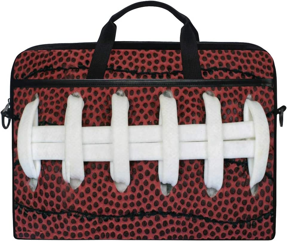 MRMIAN Closeup View of Grip Football Sports Laptop Case Bag Sleeve Portable/Crossbody Messenger Briefcase Convertible w/Strap Pocket for MacBook Air/Pro Surface Dell ASUS hp Lenovo 15-15.4 Inch