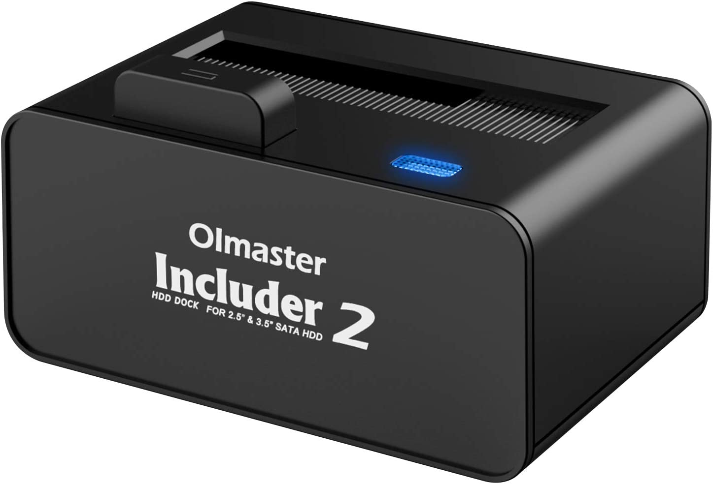 OImaster USB 3.0 to SATA Hard Drive Docking Station with Pop Up Button, 2.5 or 3.5-inch HDD SSD External Hard Drive Docking Station Super Speed UASP Supported Tool Free(10TB Support) Black