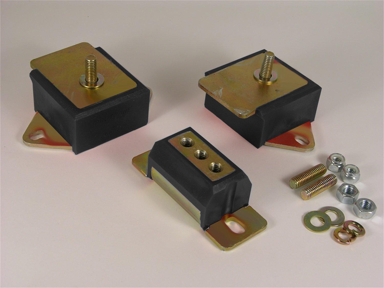 Prothane 1-1904-BL Black Motor and Transmission Mount Kit for CJ5, CJ7 and CJ8