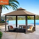 Cheap EliteShade 12×12 feet Titan Outdoor Garden Backyard Gazebo With Sunbrella Fabric (Cocoa)