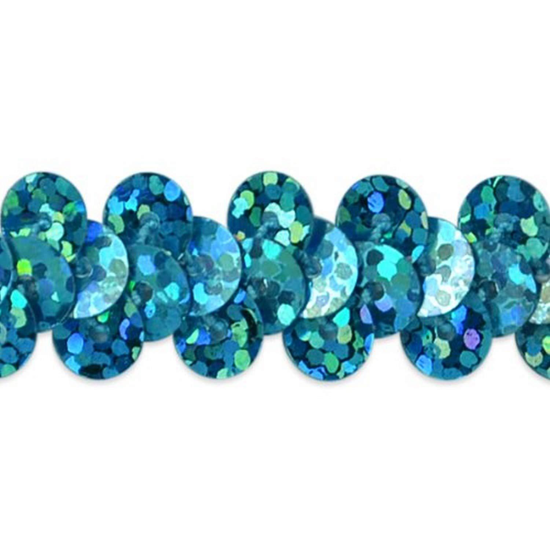 3//8-Inch Green Expo International 20-Yard of 1-Row Starlight Hologram Stretch Sequin Trim