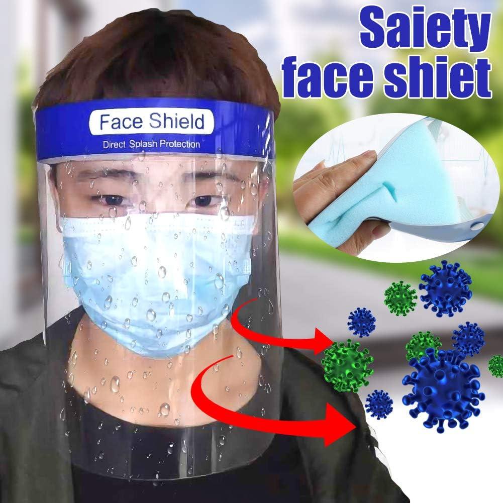 Alivier /Écran Facial de s/écurit/é Anti-bu/ée Protection compl/ète /Écran Facial Anti-salive Anti-Huile Protections faciales avec Bande /élastique