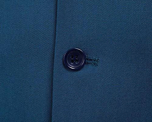 Fit Business Vest Unie Men Meeresblau Couleur Blazer Casual Col Vintage Slim V OZFXM
