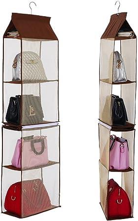 Sac de rangement suspendu sac à main sac placard Rack cintres 4 couleurs Hanging