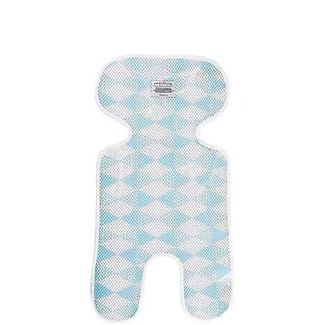 Hyde Cojín silla de paseo ligera Paseo Universal Colchoneta para Cochecito y Carro Bebe Transpirable, tejido 3D transpirable (Azul)