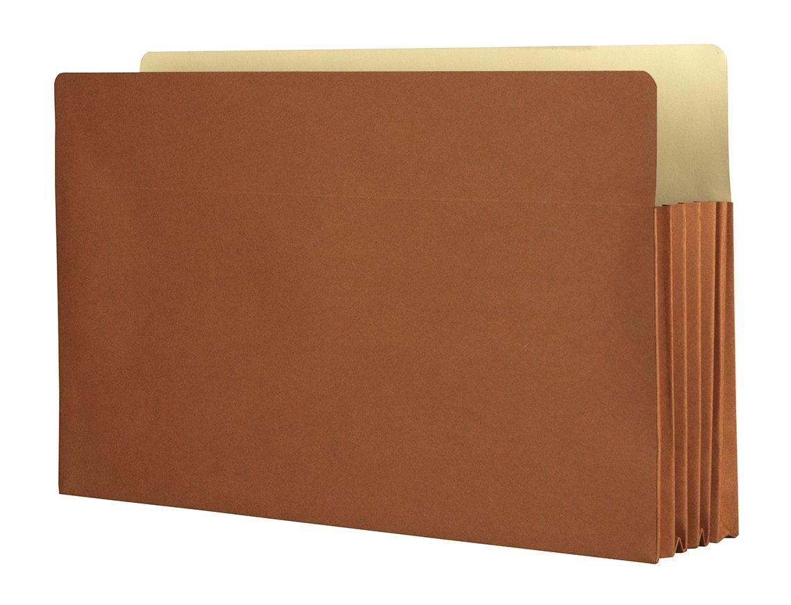 Expanding File Folder, Legal Size File Organizer, 5.25 inch Expanding Accordion Folder, Box of 10
