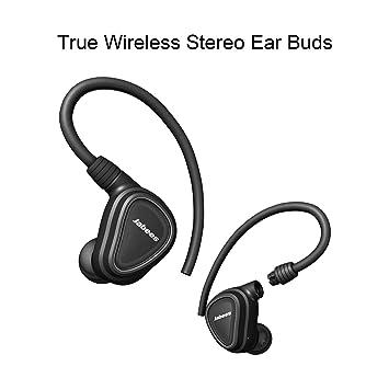 e209094ecba True Wireless Earbuds With Microphone Shield By Jabees, Detachable  Flex-wire Earhooks Fitness Earphones