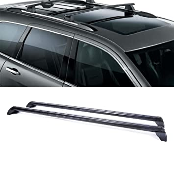 Gevog 2pcs Black Steel Roof Rack Cross Bar for 11-15 Jeep Grand Cherokee Luggage
