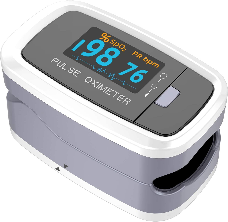 Portable Pulse Rate Saturation Monitor Blood Oxygen Meter Sensor Spo2 Suitable for Adult and Kids US Stock Arrive in 3-5 Days Dream Maker Fingertip Pulse Blood Oxygen Saturation Monitor