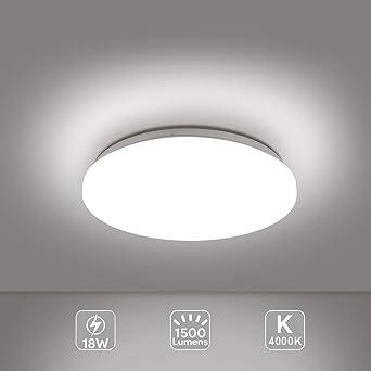 EISFEU LED 18W Lámpara de Techo, Reemplaza 100W Bombillas ...