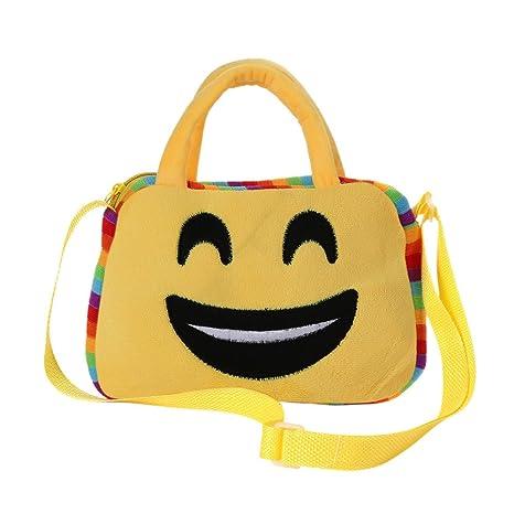Emoji - Mochila escolar, con diseño de emoticonos, para el hombro, estilo clásico