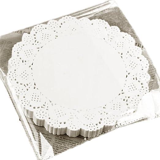 Tortenspitzen rund 16 cm 250 Stück weiss Tortendeckchen Deckchen