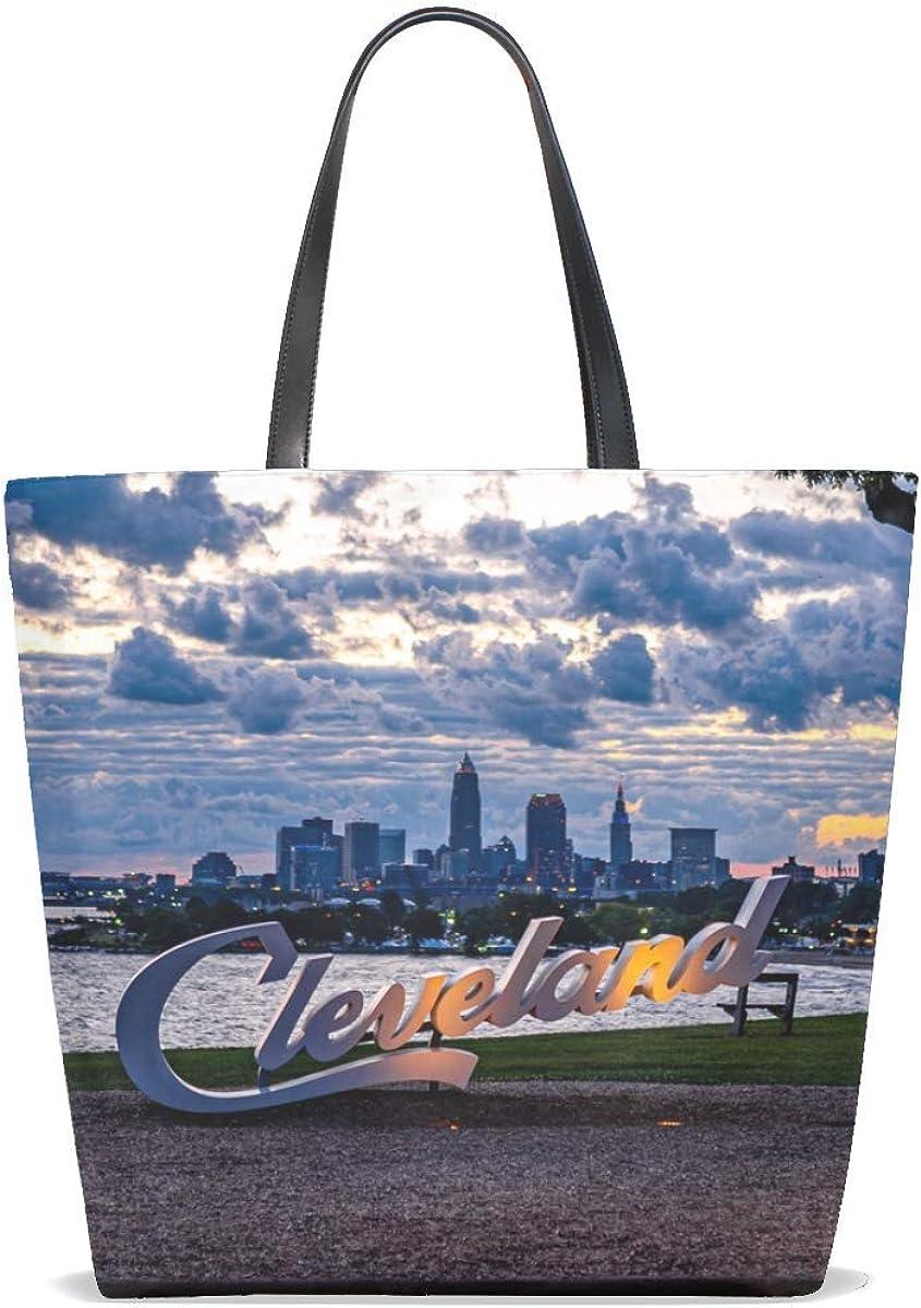City Coast Inscription Tote Bag Purse Handbag For Women Girls