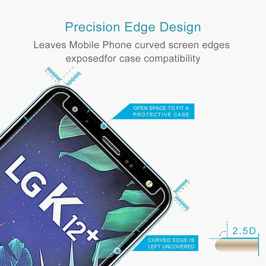 Leya Tempered Glass Flim 100 PCS 0.26mm 9H 2.5D Tempered Glass Film for LG K40