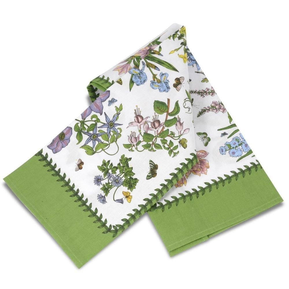 New Pimpernel Portmeirion Botanic Garden Chintz cotton tea towel