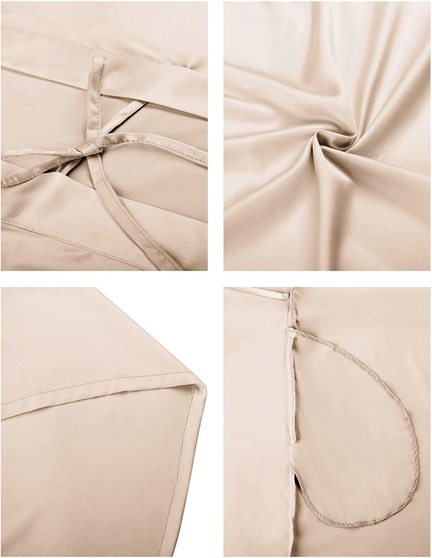 SIORO Womens Dressing Gown-Silk Satin Ladies Bathrobe Kimono Bridesmaid Robe for Wedding Party Short