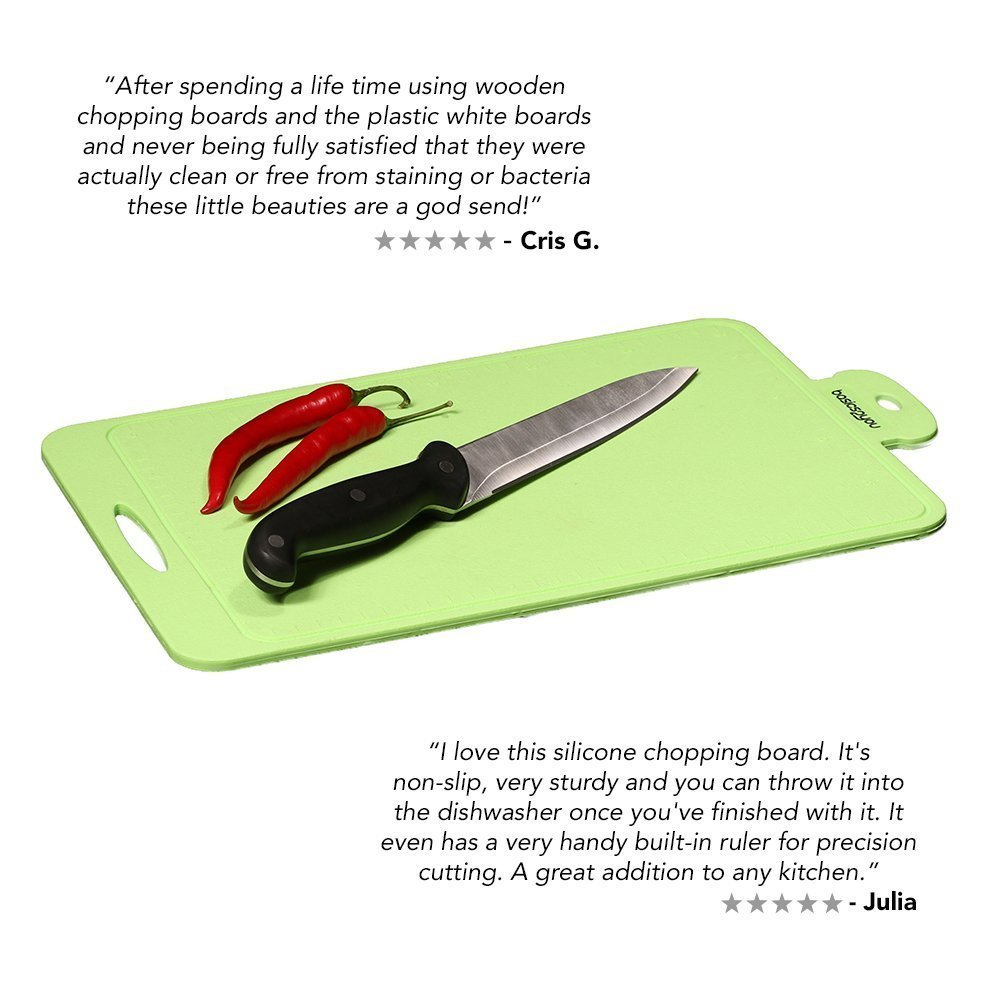 The item for sale is premier set of 5 coloured flexible chopping - Silicone Chopping Board By Basics2you Best Modern Colours Cutting Mat Made From Premium Quality Silicone Is Non Slip Knife Marks Resistant