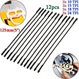 #8: 12pcs 5 Inch 125mm Pinned Scroll Saw Blades Wood Working Power Tool Accessories