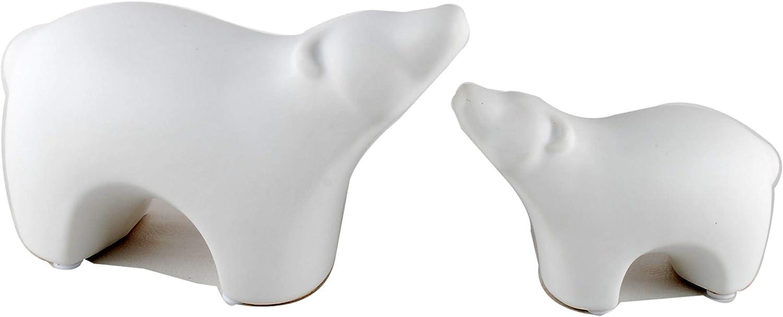 NWFashion Ceramic Animal Figurines Home Decoration Furniture Desktop Display (White Bear)